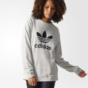 Adidas Tres Foil Spell Out Sweatshirt